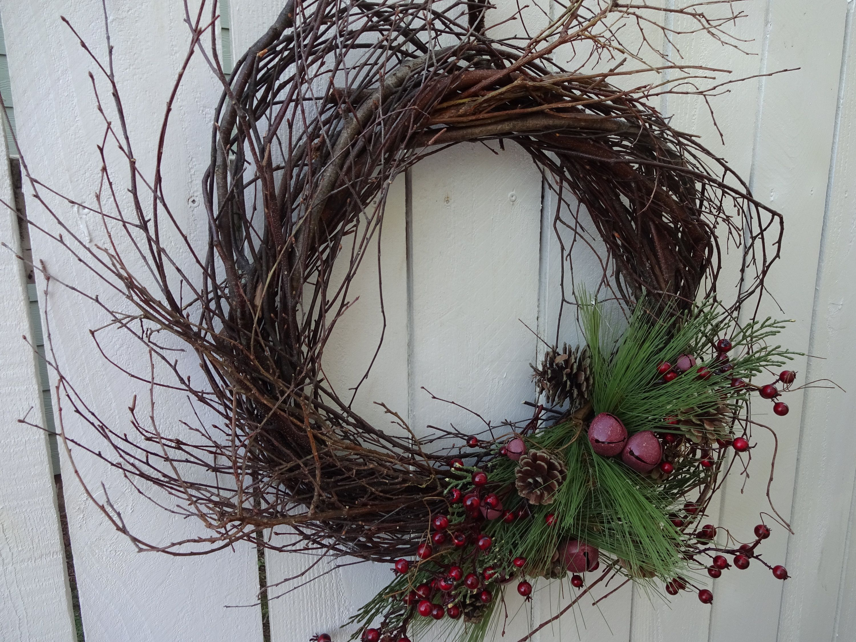 Rustic Christmas Twig Wreath