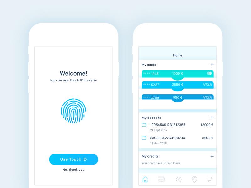 Finance App Login & home screens App login, Finance