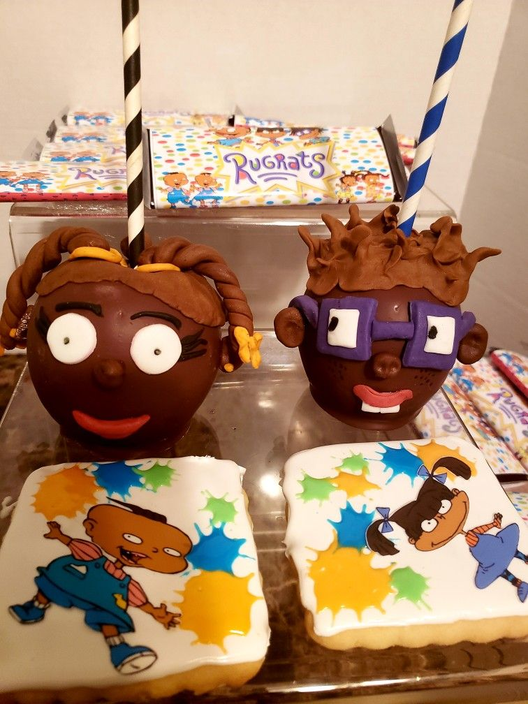 Magnificent African American Rugrats Candy Apples And Cookies With Images Funny Birthday Cards Online Necthendildamsfinfo