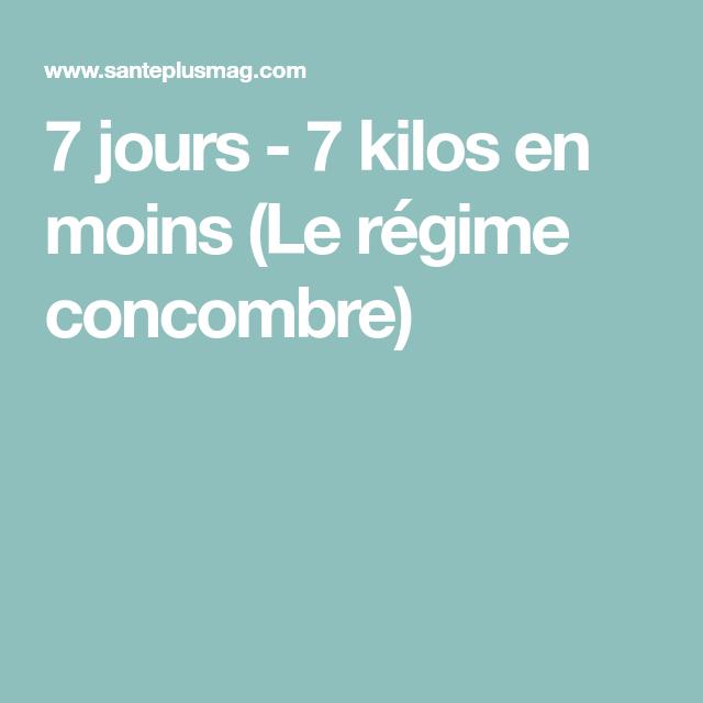 7 jours - 7 kilos en moins (Le régime concombre) | Régime