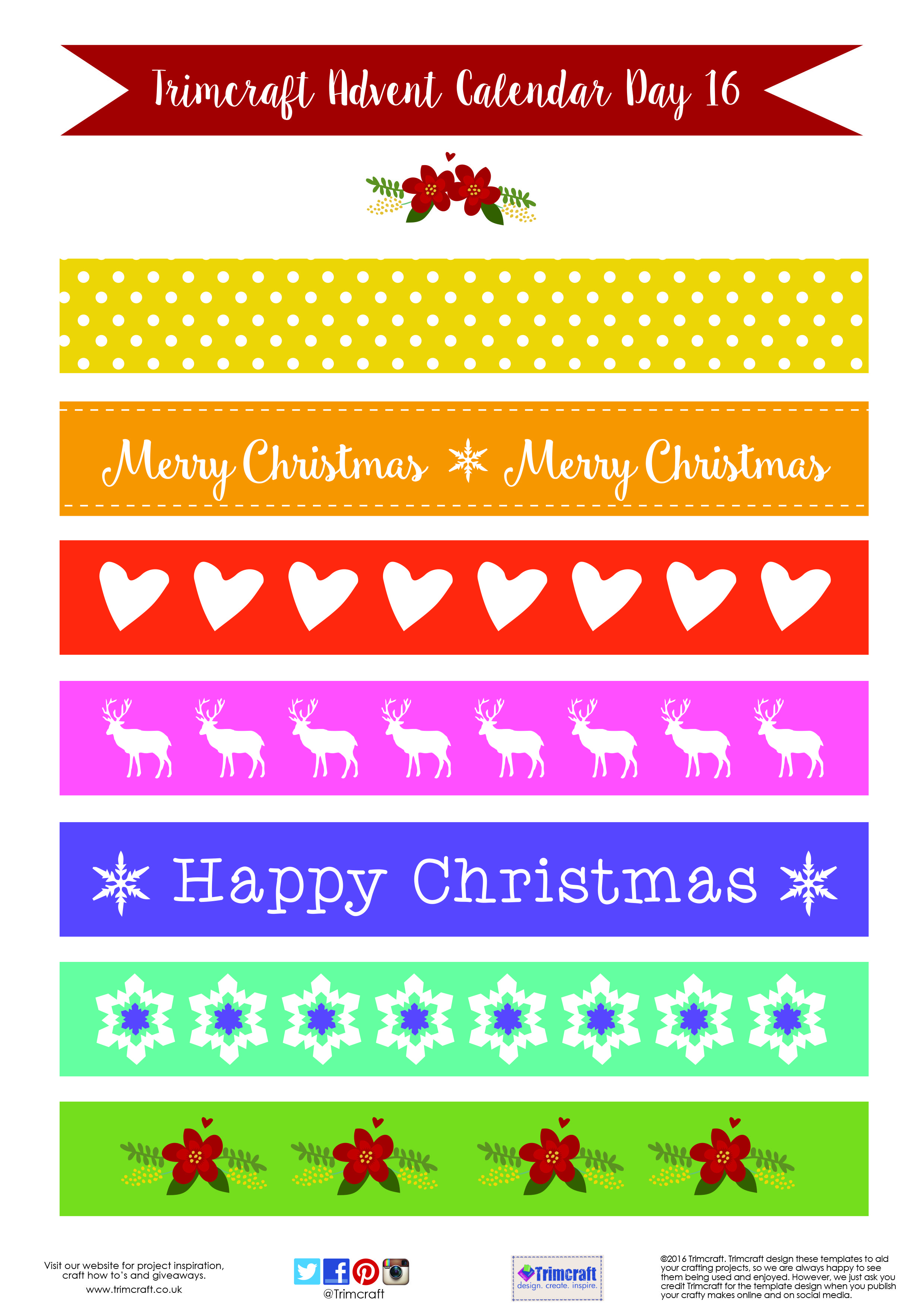 Christmas Paper Chains Uk.Trimcraft Advent Calendar Day 16 Free Printable Paper Chain
