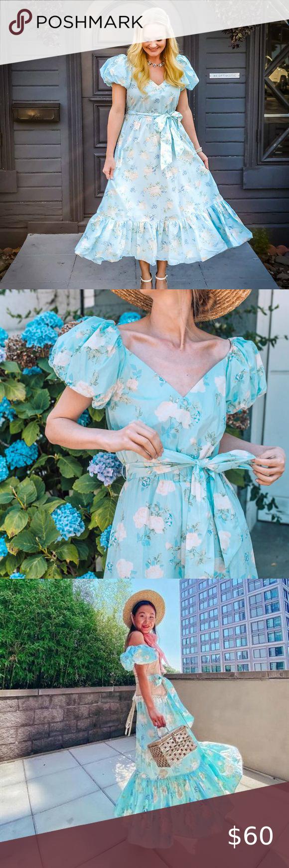 Nwt Target Loveshackfancy Estelle Floral Dress 12 Blue Floral Puff Sleeve Belted Dress Cottag Floral Blue Dress Floral Print Dress Long Floral Print Maxi Dress [ 1740 x 580 Pixel ]
