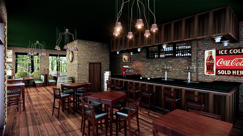 Custom Bar 3D Render | Interior 3D Rendering | Pinterest | 3d ...