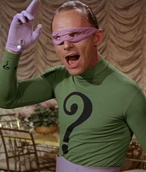 The Riddler Cartoon | The Riddler in the classic Batman TV Series |  Riddler, Batman tv show, Batman tv series