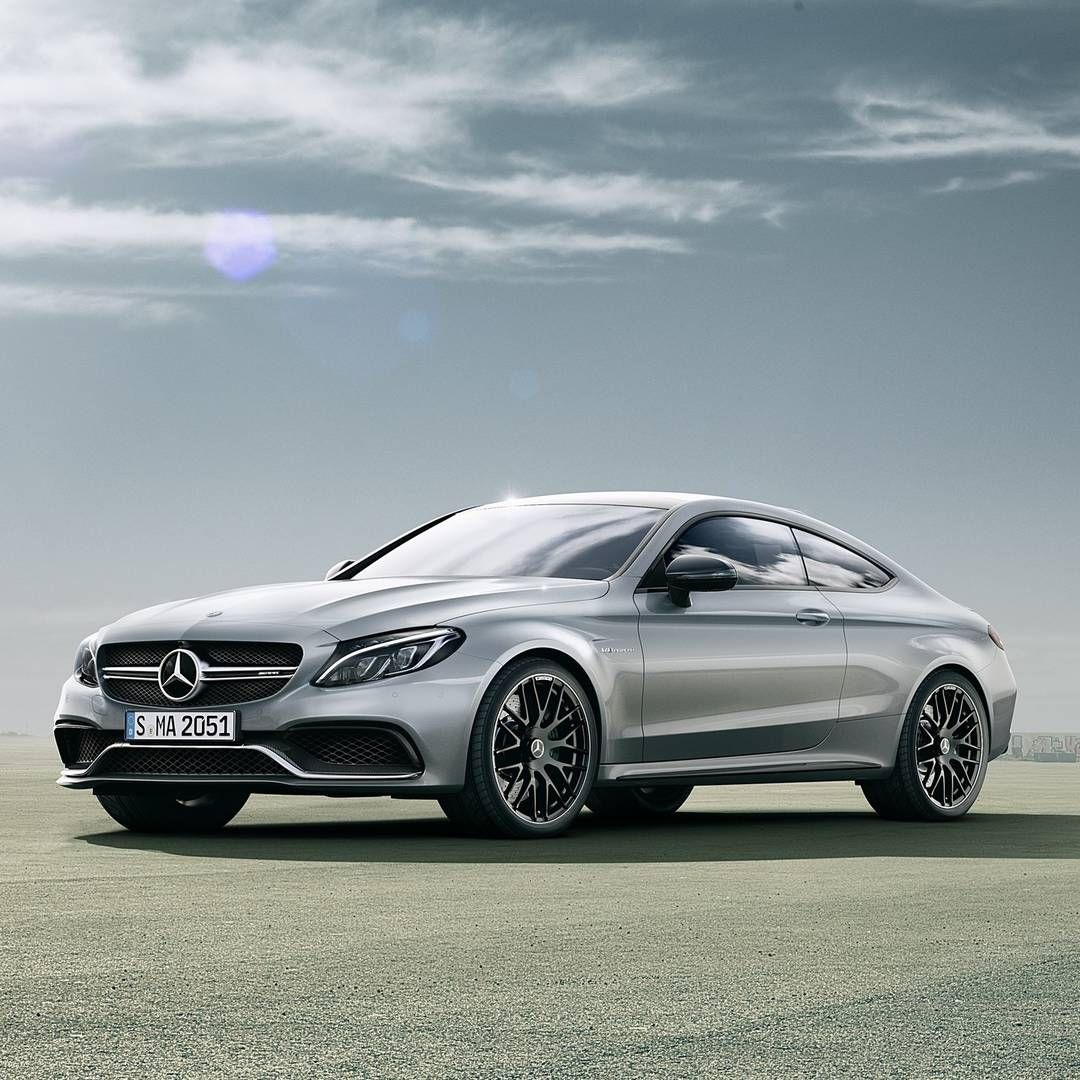 The exterior of the new Mercedes-AMG C 63 Coupé is enhanced with wider wheel arch flares, aggressive lines of the hood, an expressive vehicle face and overall stance that is distinctly Mercedes-AMG. [Combined fuel consumption: 8.9-8.6 l/100km | CO2 emission: 209-200 g/km]