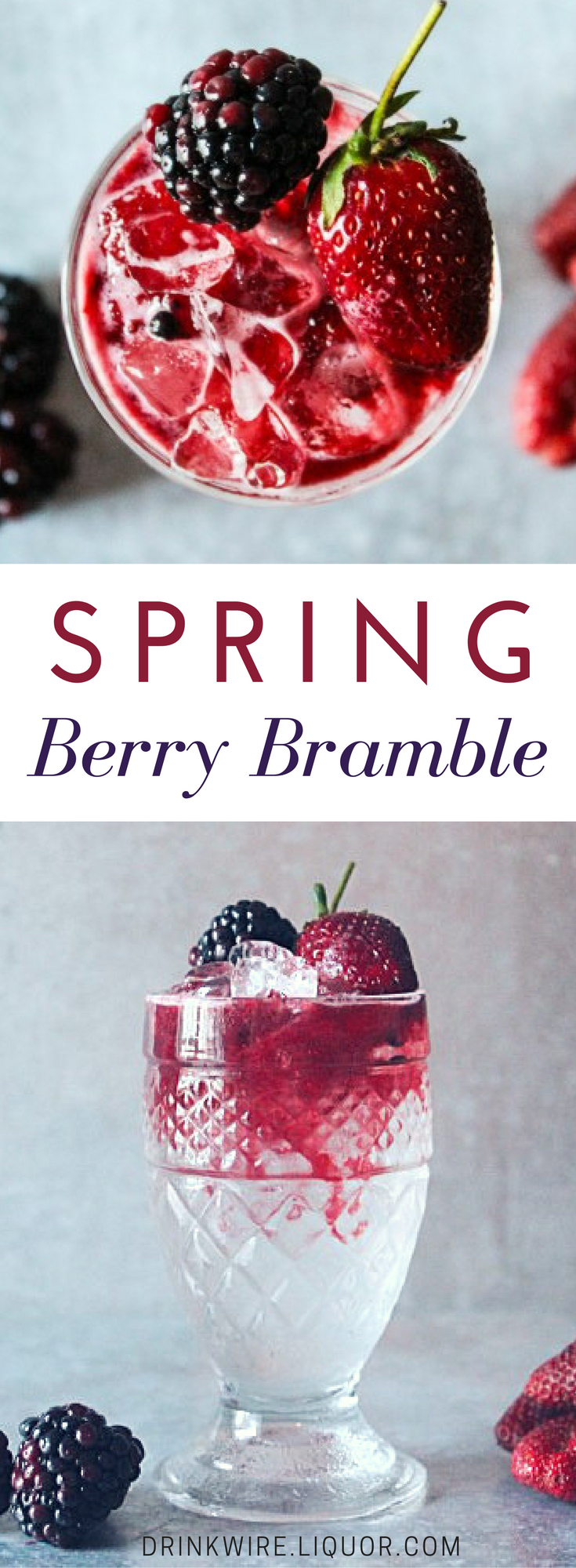 The Spring Berry Bramble is a Modern Classic You Should Know! This is a perfect recipe to get a head start on fresh berry cocktails for spring. Top your weekend off with this fresh and springy gin cocktail!
