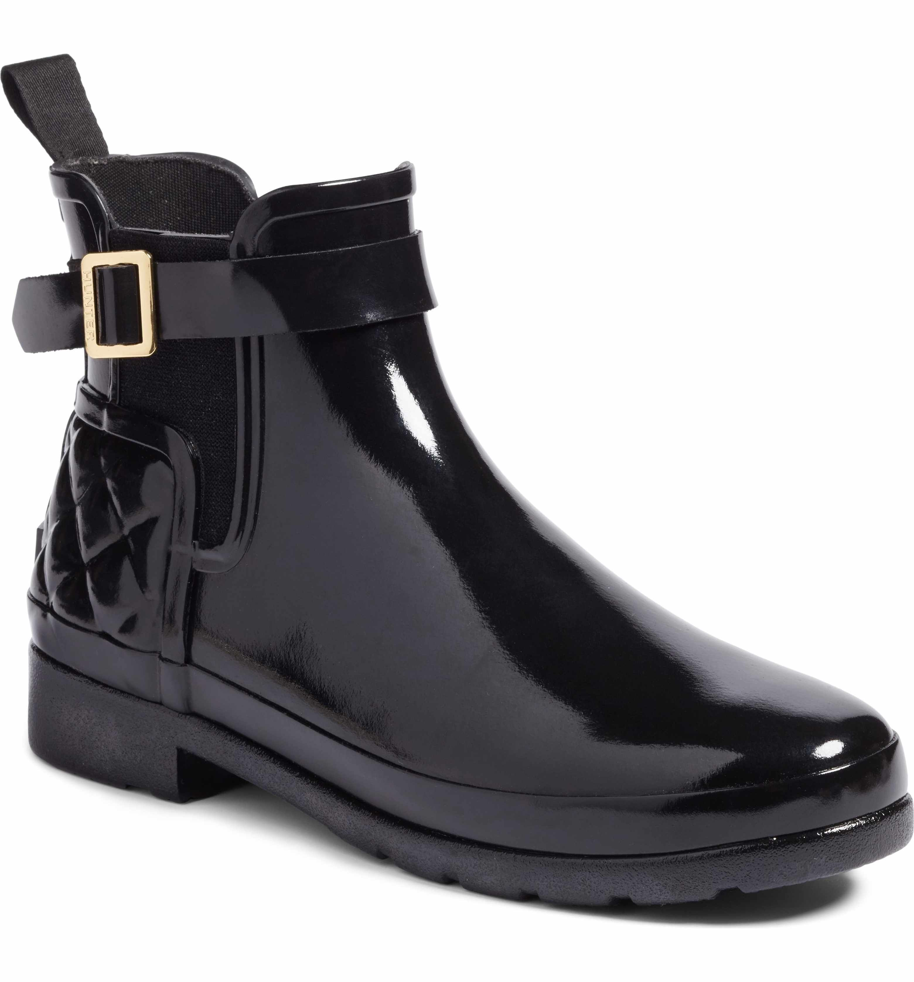 Hunter Original Refined Quilted Gloss Chelsea Boot (Women) | Nordstrom