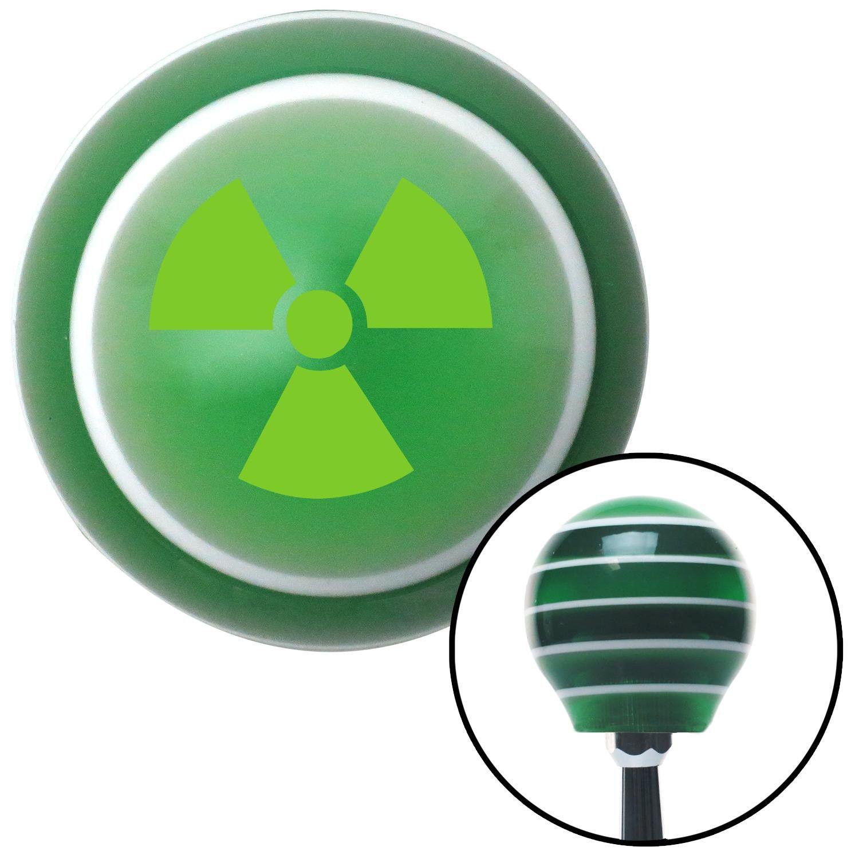 Green Nuclear Hazard Symbol Green Stripe Shift Knob With M16 X 15