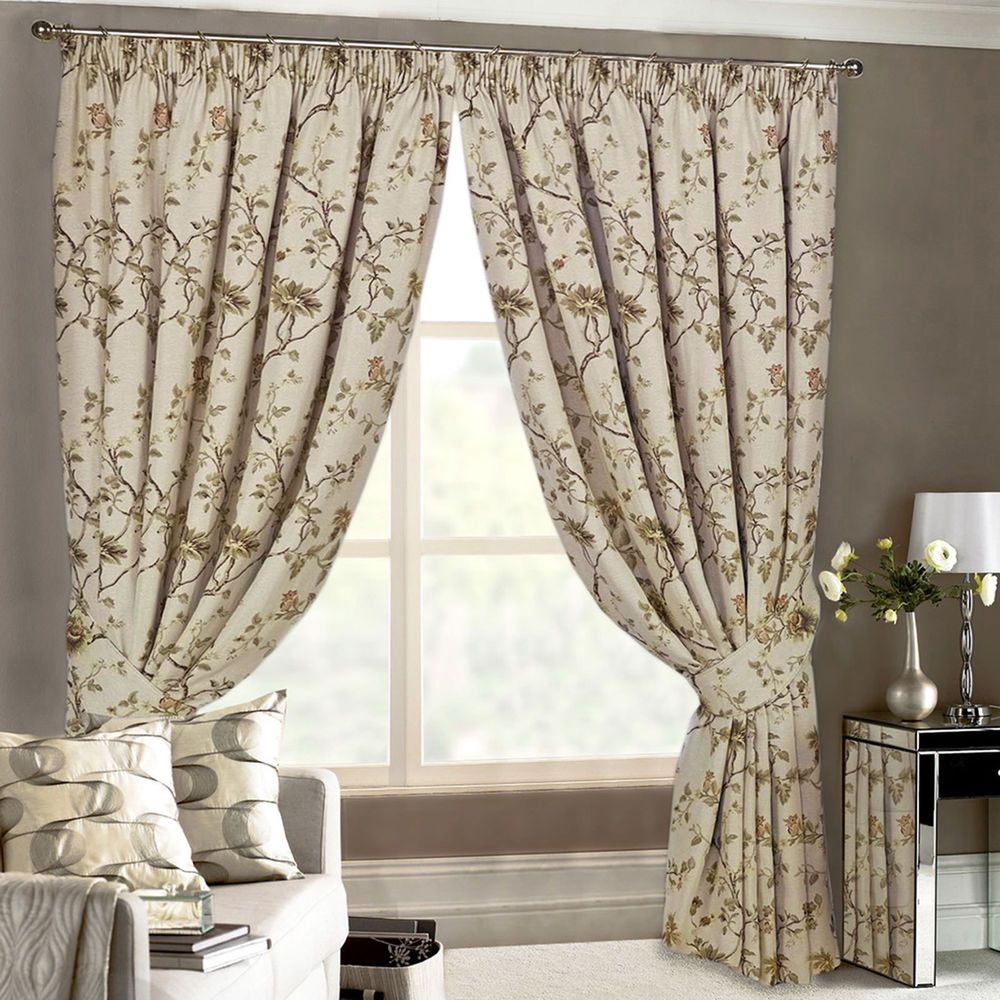 Tapestry Curtains Heavy Vintage Jacquard Floral Lined Pencil Pleat Alluring Luxury Curtains For Living Room Design Inspiration