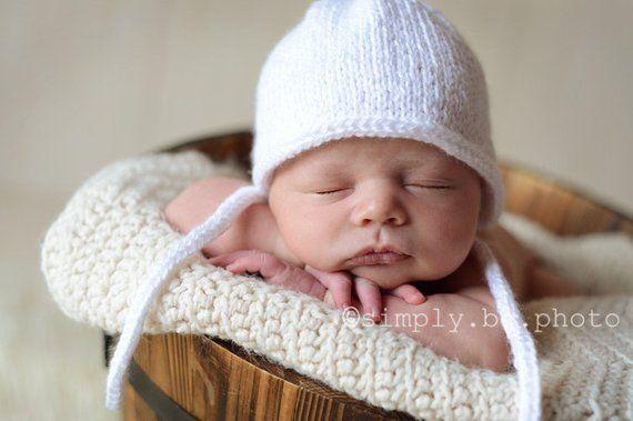 I-Cord Bonnet - PDF PATTERN - newborn baby toddler knit bonnet hat photo  prop 9dabaf7fb3e