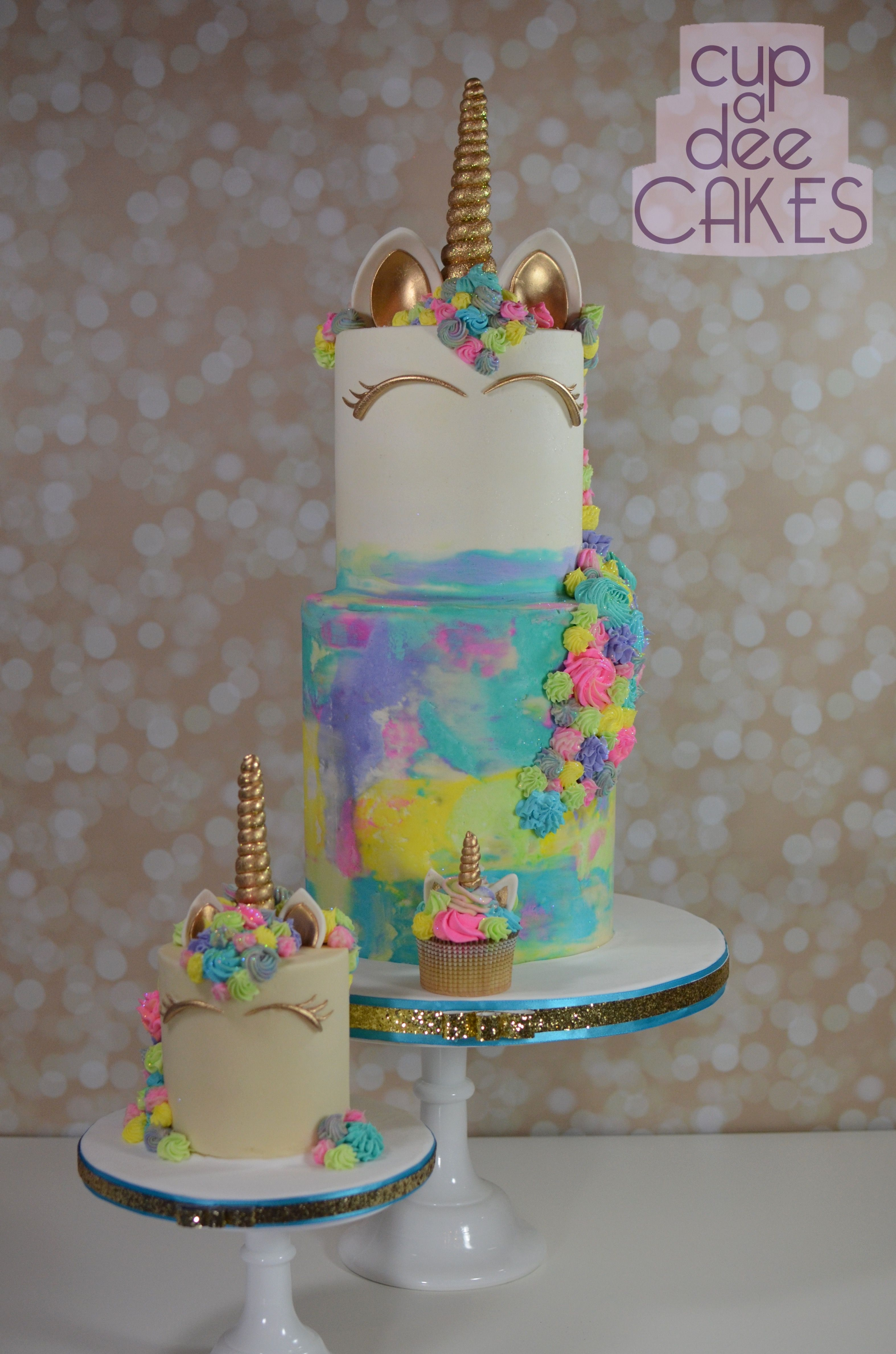 Cake Decorating Two Tier Unicorn Cake With A Baby Cake
