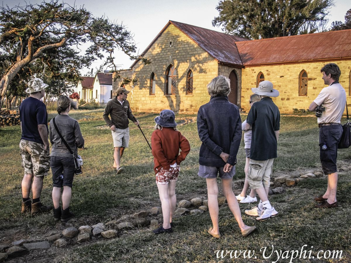 A Rorkes Drift tour and talk, http://www.uyaphi.com/south-africa/lodges/fugitives-drift-lodge.htm