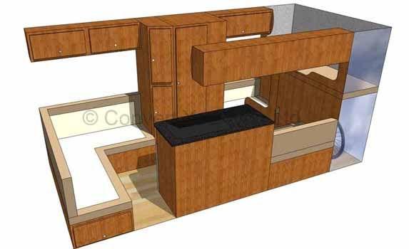 Convert your van ltd camper motorhome interior layout for Campervan furniture plans