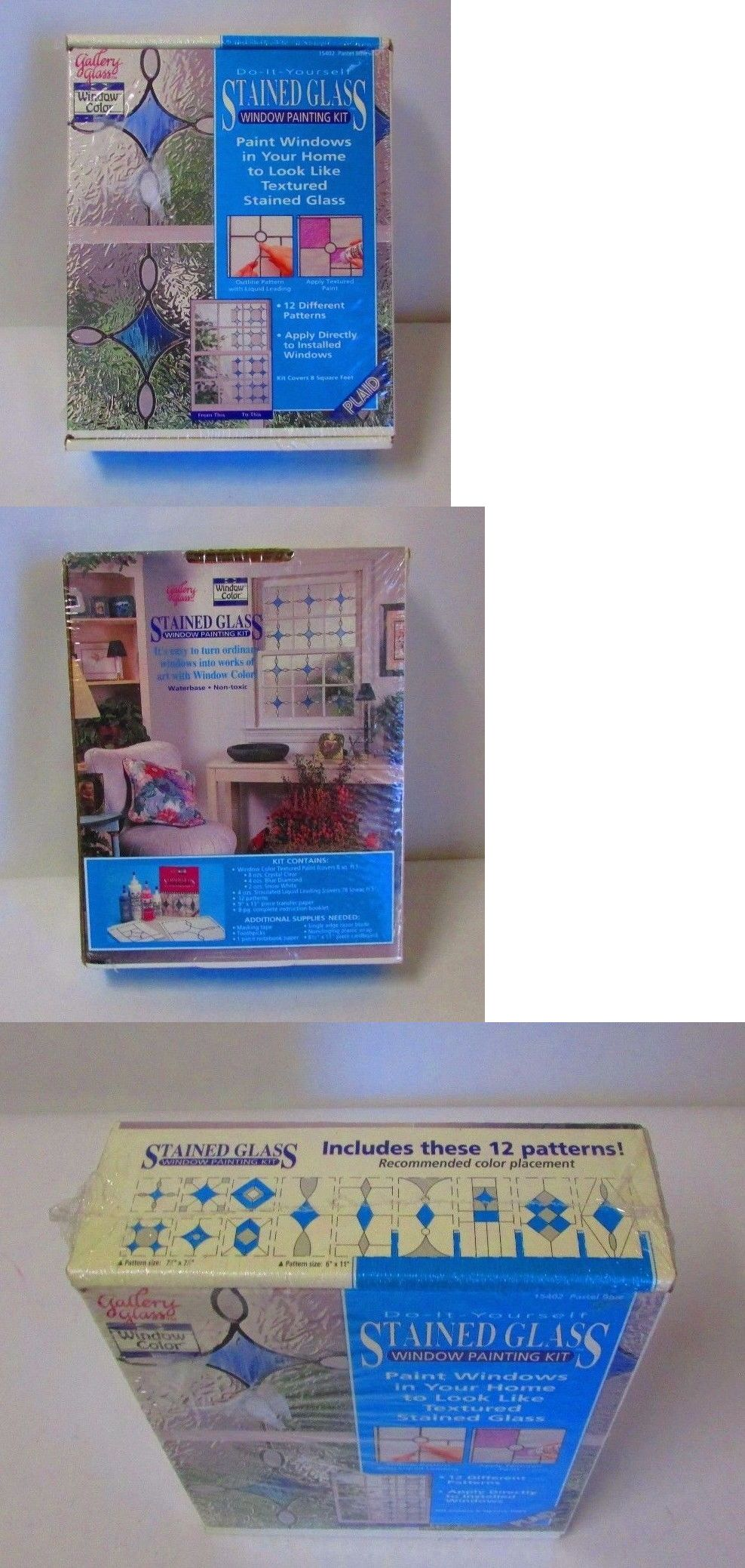 Books and videos 117402 do it yourself stained glass window books and videos 117402 do it yourself stained glass window painting kit 15402 solutioingenieria Image collections