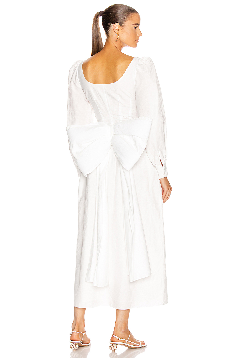 Brock Collection Quaneisha Maxi Dress In White Fwrd In 2020 Maxi Dress White Dress Fashion