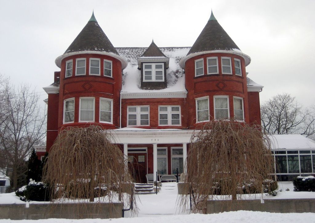 Double Tower House Victorian homes, Victorian style