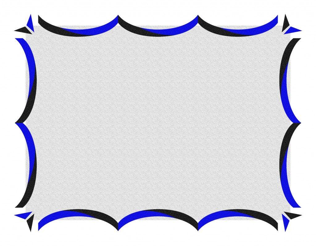 Shining Blue Border Http://flowerborderdesign.com/printable Page Border  Printable Bordered Paper Designs Free