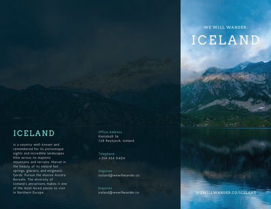 Iceland Travel Brochure  Brochure Project    Travel
