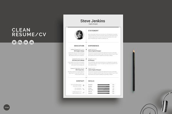 Resume/CV by ThemeDevisers on @Graphicsauthor Resume CV Templates