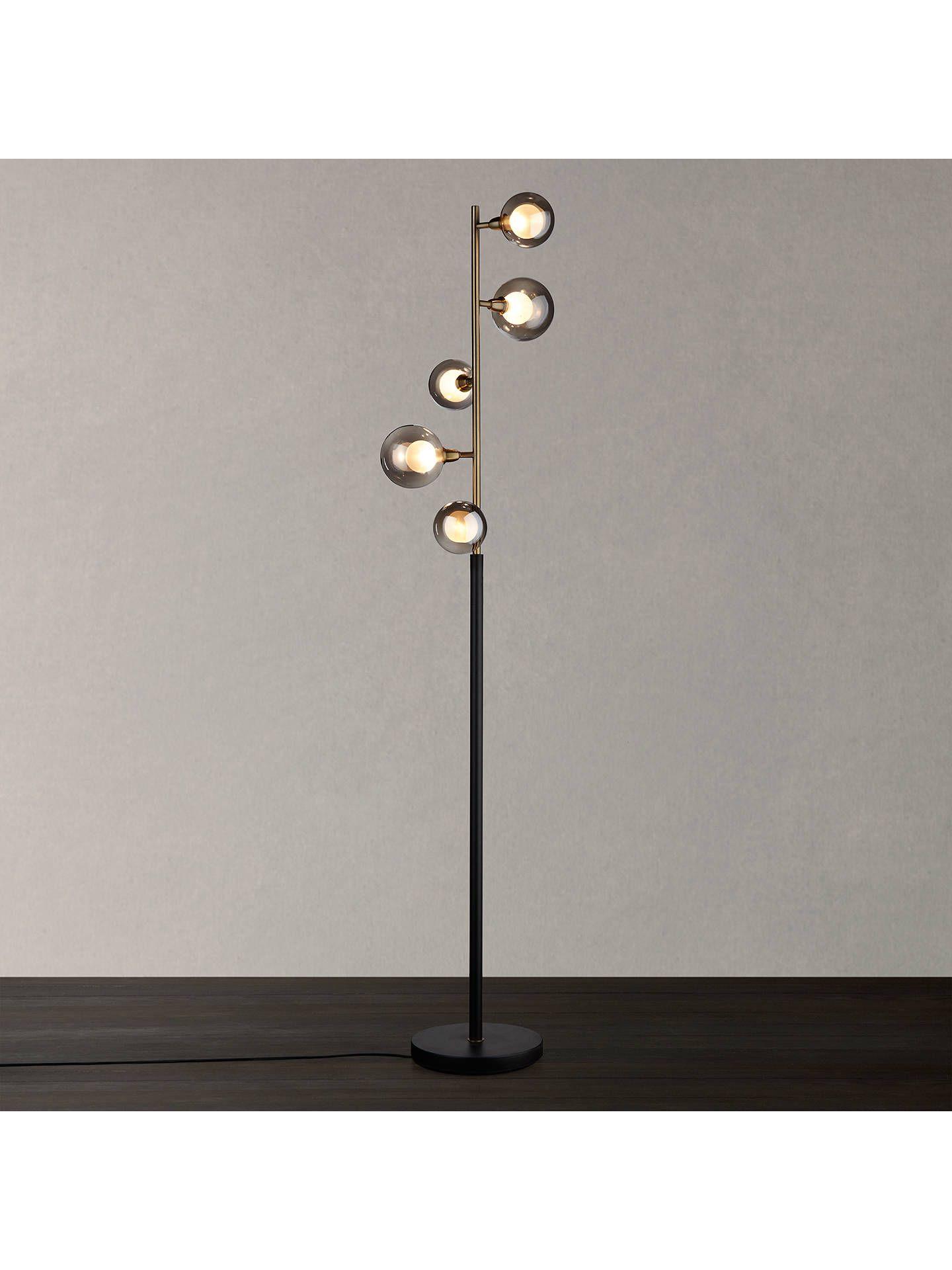 John Lewis Amp Partners Huxley 5 Light Floor Lamp Smoke Antique Brass 5 Light Floor Lamp Floor