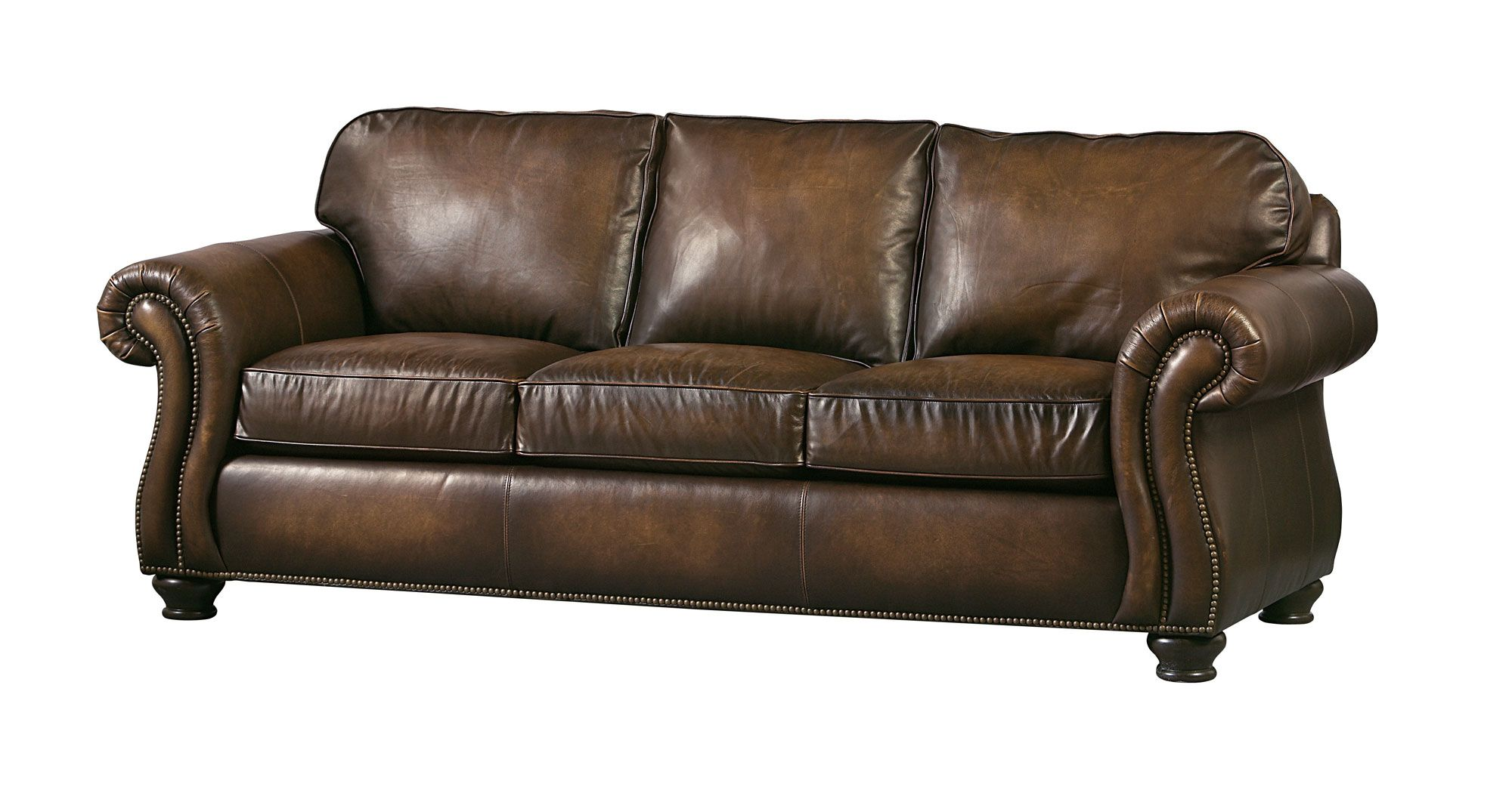 Sofa | Bernhardt (With images) | Brown leather sofa