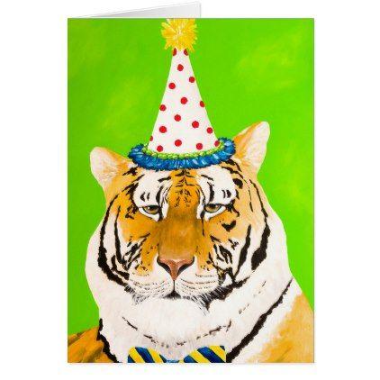 Tiger Birthday Card Animal Gift Ideas Animals And Pets Diy Customize Tiger Birthday Cat Birthday Card Birthday Cards