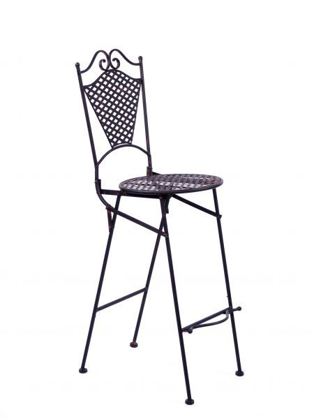 Wunderschöner Gartenstuhl in braun aus Eisen im Antik-Stil ...