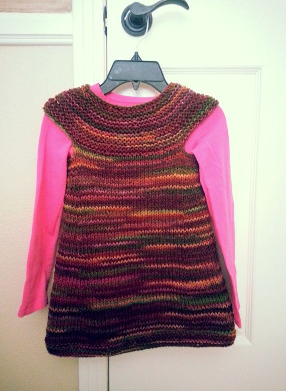 a099fded0 Hand knit sweater tunic dress for little girl by Lunushka on Etsy ...