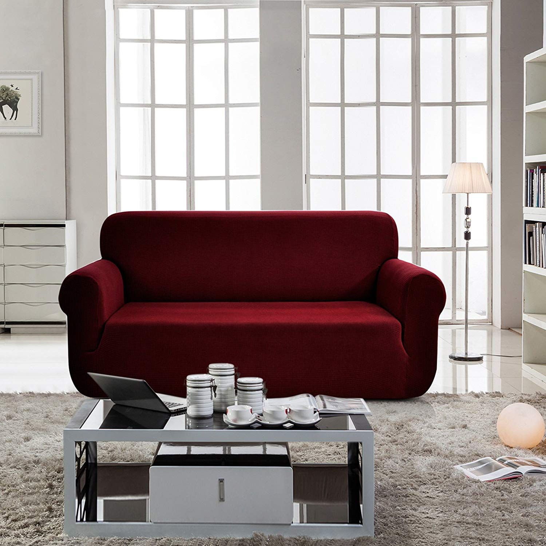 Chun yi jacquard sofa covers 1piece polyester spandex