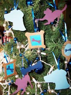 Diy Dog Themed Christmas Tree Ornaments Christmas Tree Themes Dog Christmas Wreath Christmas Tree Dog