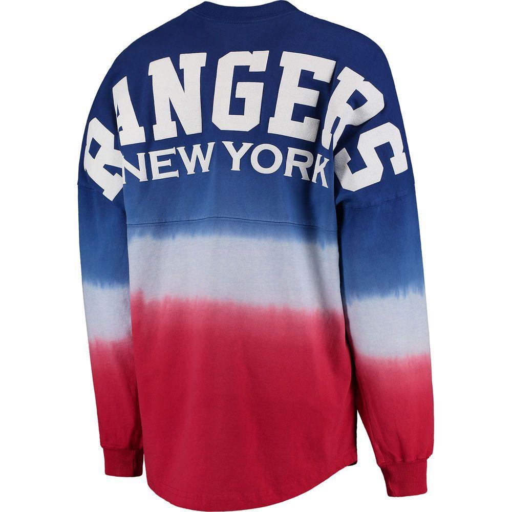 000edc23060dc ... uk new york rangers fanatics branded womens ombre spirit jersey long  sleeve oversized t shirt royal