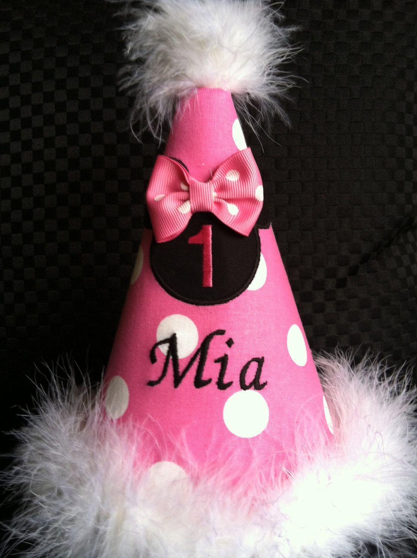 Beautiful Minnie Mouse Birthday Hat By DanaandGaelsplace On Etsy 1800