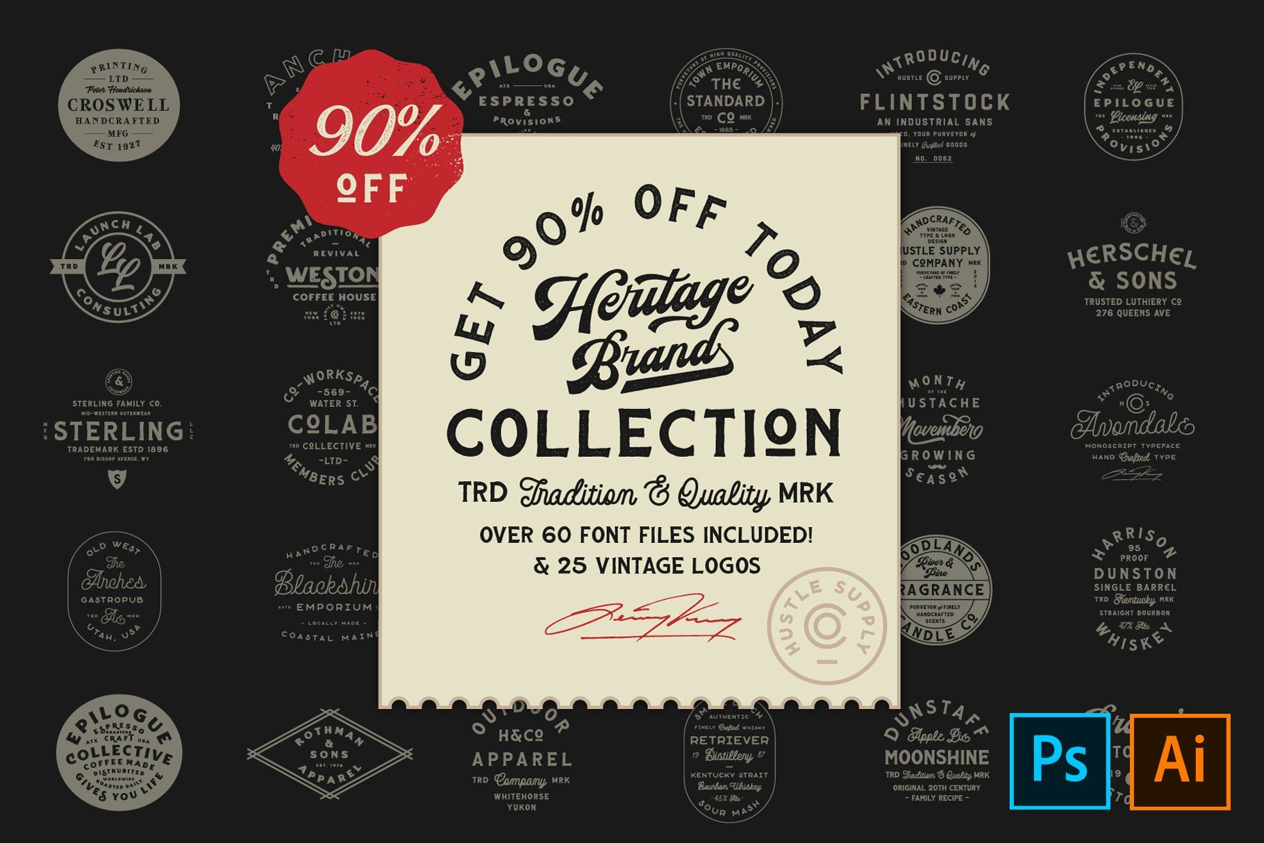 The Heritage Brand Collection In 2020 Heritage Brands Photoshop Type Instagram Prints