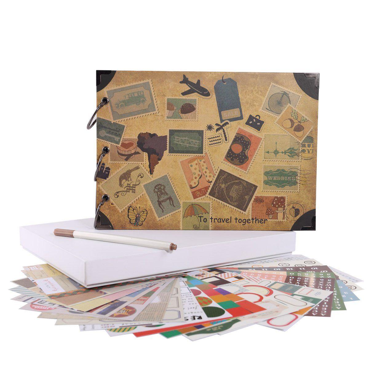 Facraft Travel Scrapbook Album 10 5x7 5 Vintage Diy Vacation