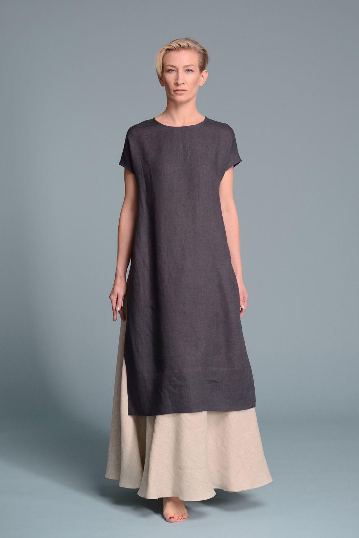 boho dress linen dress eco fashion Hemp Dress -cannabis clothing- Hemp clothing -organic dress tunic dress hemp shirt