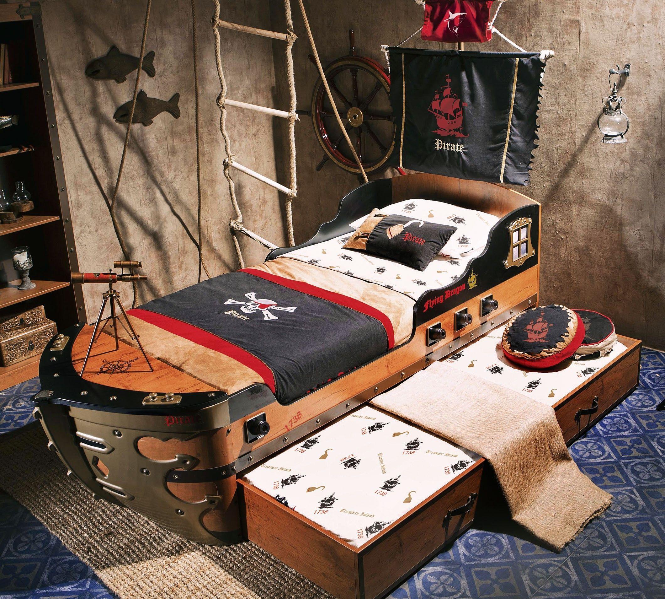 Cilek Pirate Kinderzimmer 4 Teilig In 2021 Kinderzimmer Piraten Zimmer Kinder Zimmer