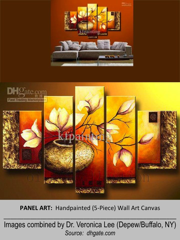 PANEL ART (5-Piece) -- Handpainted Wall Art Canvas Images combined ...
