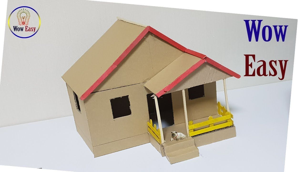 Wow Easy Diy Cardboard House Project House Project For