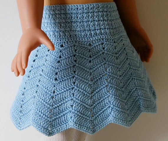 Crochet Chevron skirt pattern for 18\