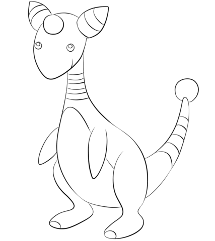 Click To See Printable Version Of Ampharos Coloring Page Lineart