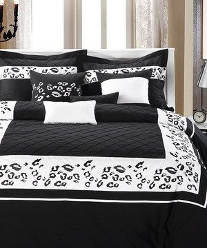Another great find on #zulily! Black Tiger Comforter Set by Chic Home Design #zulilyfinds