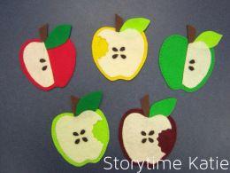 Five little apples felt storyboard templates apple theme felt storyboard templates maxwellsz