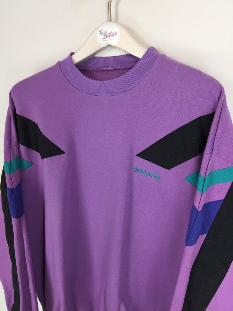Free Shipping Brand New With Tags Attached 65 Retail Size Womens Medium M Purple Glow Adidas Logo Tref Sweatshirts Hoodie Sweatshirts Adidas [ 1200 x 1242 Pixel ]
