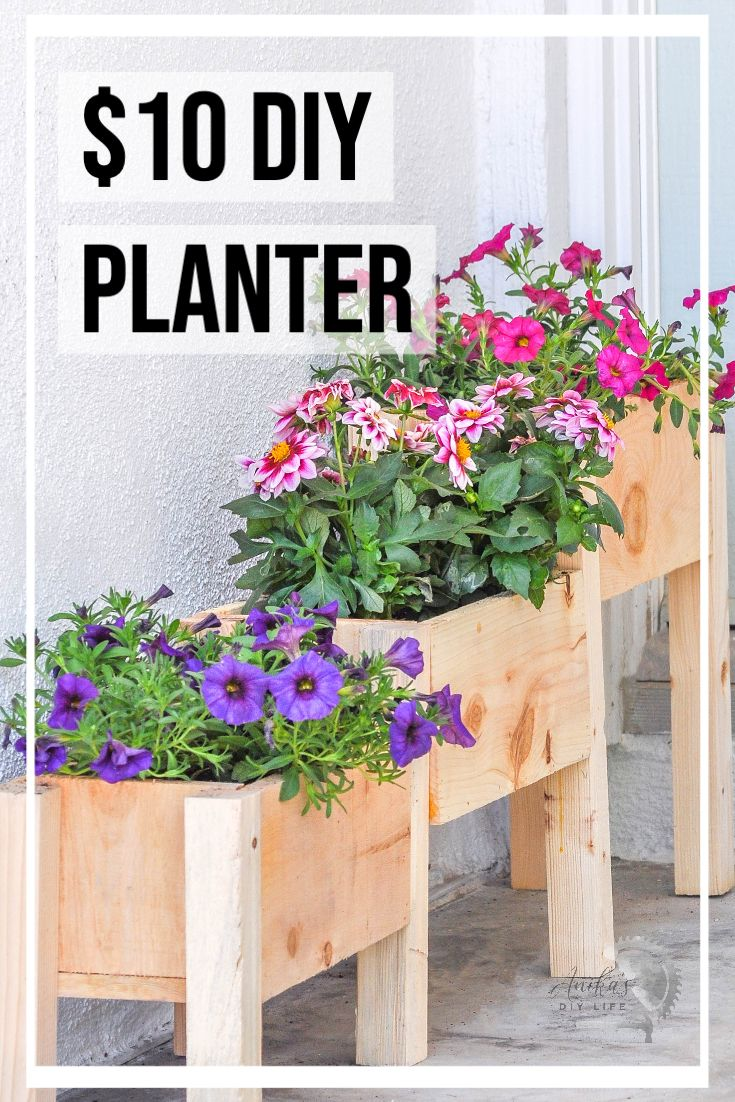 Easy DIY Tiered planter for 10! in 2020 Planter box