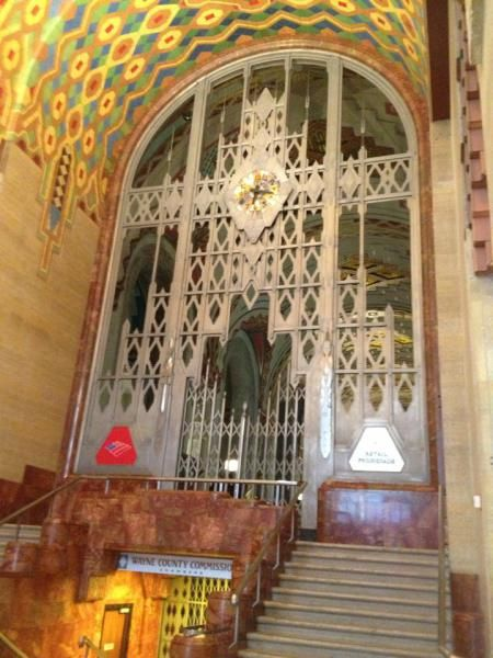 Inside the main lobby of the Guardian Building, which Pure Detroit offers a free tour of (Credit, Michael Ferro)