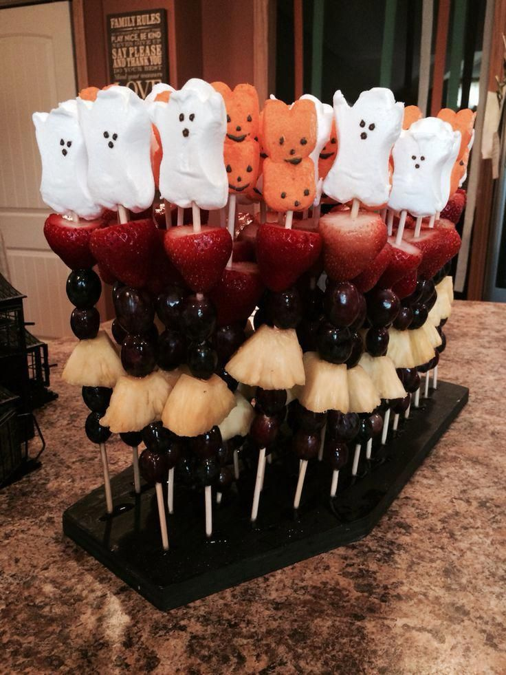 Halloween fruit kabobs fruit halloween kabobs