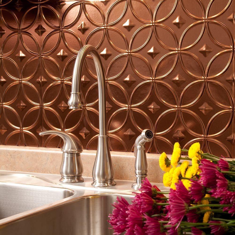Decorative Wall Tiles For Kitchen Backsplash Fasade 24 Inx 18 Inrings Pvc Decorative Backsplash Panel In
