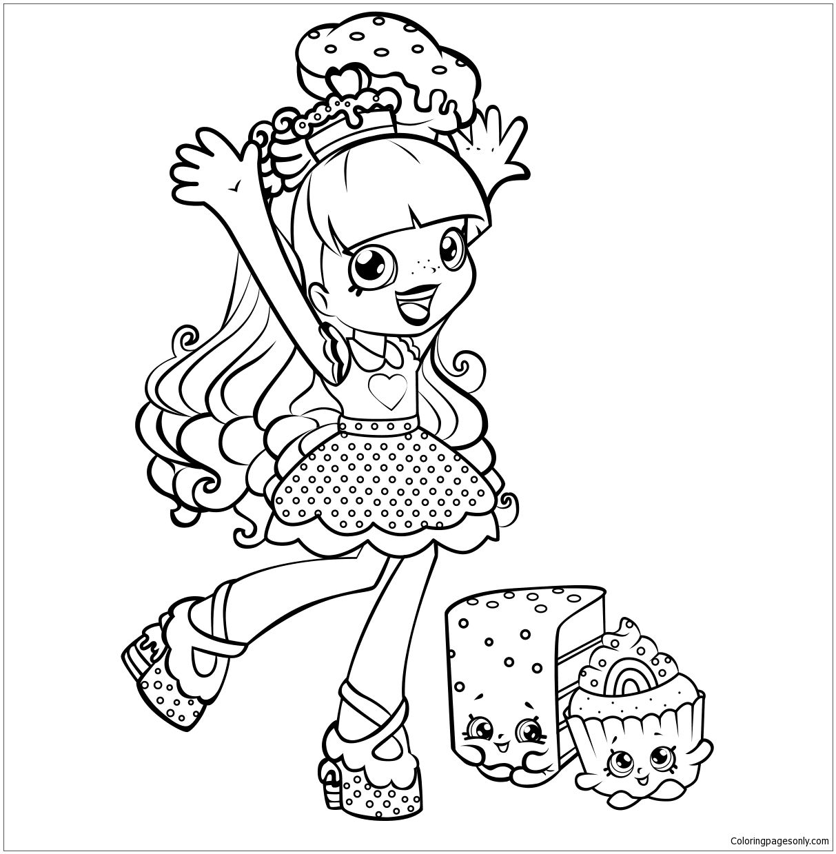 Shoppies Rainbow Kate Shopkins Coloring Page Shopkin