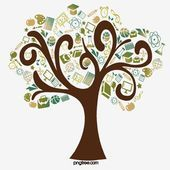 Knowledge Tree Educational Thinking Hand Painted Elements For Students To Start School Book