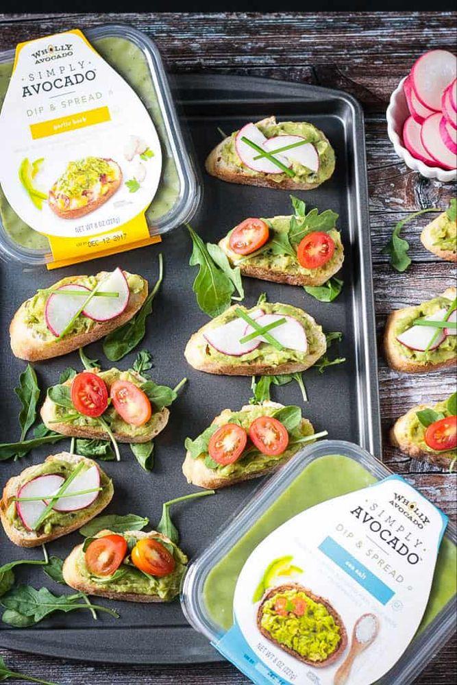 Easy Vegan Bruschetta with Avocado